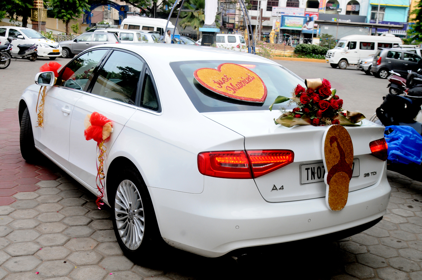 Car Decorations Elshaddai Christian Wedding Planners - Audi car decoration